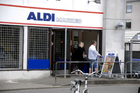 german food: Kastrup.Copenhagen.Denmark  19 July  2015   _Consumers life at German food chain Aldi grocery store
