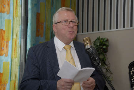 council: SKaevinge Denmark 23 July 2015_  Mayor Henrik Zimino of Taarnby council participate to celebrate 75 years  Taarnby council senior picnic tour hold party at Skaevinge Kro restaurant  taarnby council  first senior picnic tour were started  in 1940