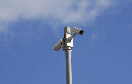 kastrup: Kastrup.Copenhagen.Denmark  26 July  2015   CCTV Camera  on cross road Kastruplundgade and Alleen in Kastrup
