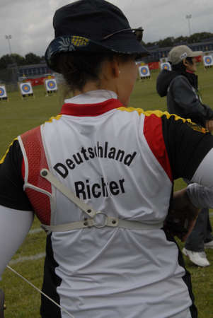 richter: CopenhagenDenmark 29 July 2015_Elena Ricchter from Germany during her sport seassion at World Archery Championshiips 26 july - 2 august 2015 in Copenhagen, Denmark Editorial