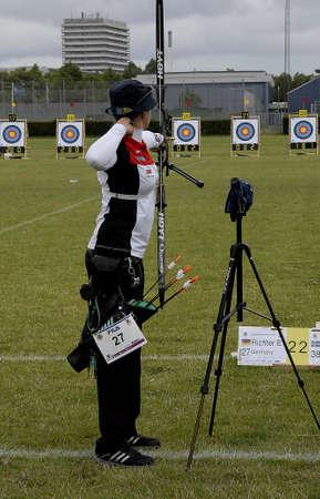 richter: CopenhagenDenmark 29 July 2015_Elena Richter from Germany during her sport seassion at World Archery Championshiips 26 july - 2 august 2015 in Copenhagen, Denmark Editorial