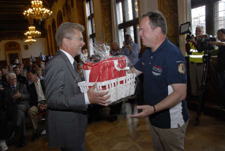 grand son: CopenhagenDenmark 31 July 2015_ H.R.H prince Joachim and son prince Henrik prince Joachim as protactor of Copenhagen Historic Grand Prixs opening reception at Copenhagen Town Hall Lord Mayor Frank Jensen welcome t city hall  motor sports racing driver  Editorial