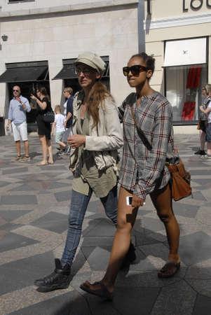 fashion week: CopenhagenDenmark 05 August  2015_ Shoppers walk  on stroeget during Copenhagen Fashion Week for next 5 days