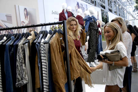 shoppe: CopenhagenDenmark 06 August  2015_  Shoppe at CIFF Copenhaen Interntional Fashion Fair 2015 danes export annually danish fasion and textile to scandinavian countries and  Germany