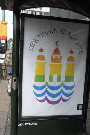 hk: CopenhagenDenmark 11 August  2015_ Copenhagen pride  lesbian and gay festival will take this weekend and dnaih Frederiks council and danish HK trade celebrate with rainbo w colour banners and flags on HK trade union building today  till this weekend tra