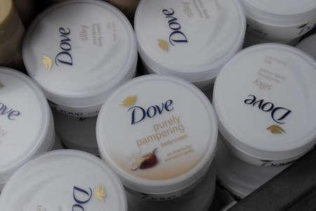 purely: CopenhagenDenmark 12 August  2015_   Dove purely pampering boday cream Editorial
