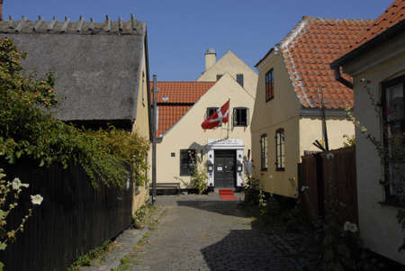 habour: DragorCopenhagenDenmark 21 August  2015_ Dragoer  four century old small town and fishing habour Editorial