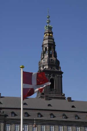CopenhagenDenmark 23 August  2015_  Chritiansborg palace danish parliament and government office folketinget