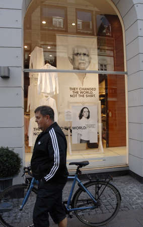 changed: CopenhagenDenmark 07 September   2015_ Gant with political message compaign they changed the world not the shirt Editorial