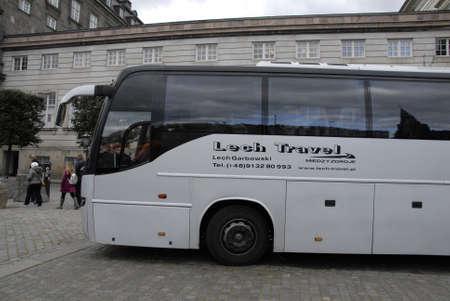 bus tour: CopenhagenDenmark _ 12the October 2015 _lech Travel bus tour visiting Copenhagen Denmark Editorial