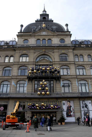nord: CopenhagenDenmark _ 26th October 2015  _ Eearly christmas decoration at Magasin du Nord at kngens nytorv