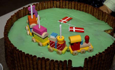 birthday party kids: Copenhagen,Denmark -30 January2016-Kids birthday party and kids birthday presents Stock Photo
