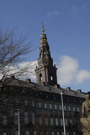 travler: CopenhagenDenmark _ 16 March  2016_ _Christiansborg palace, government office parties offices and prim3 minister office and amish parliament folketinget