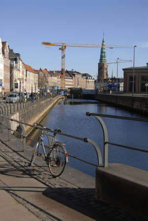 17 march: CopenhagenDenmark _ 17 March  2016_ Computer metro train on G.strand canal and view of Gl.strand canal and warning at CMT consruction site  No drugs and Alcohol