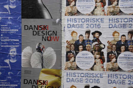 danmark: CopenhagenDenmark _ 18 March  2016_ Poster pasted at playboard at kobmagergade