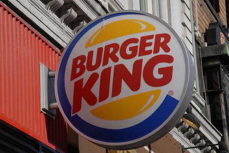 food chain: CopenhagenDenmark _ 21 March  2016_American food chain Burger King on vesterbrogade in Copenhagen Editorial