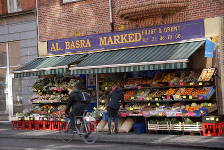 basra: CopenhagenDenmark _ 21 March  2016_ Integration  Al Basra Marked  grocery store own by immigrant