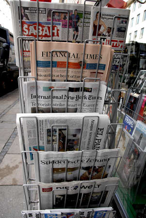 attacked: CopenhagenDenmark _ 24 March  2016_World media reaction about terror attacked in Brussel ,Belium Editorial