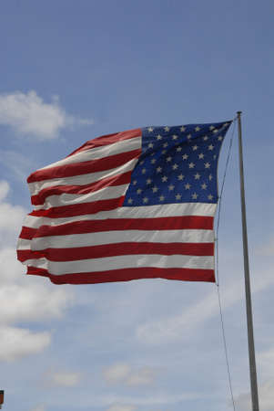 trafic: Ellansburg wshington USA- 20 May 2016_  USA stars and stripes flag flys ovr Perkins restaurant and Bakry in Ellensburg, Washington ,USA