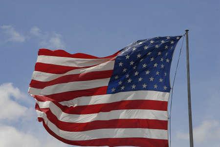 trafic: Ellansburg wshington USA- 20 May 2016_  USA stars and stripes flag flys ovr Perkins restaurant and Bakry in Ellensburg, Washington ,USA