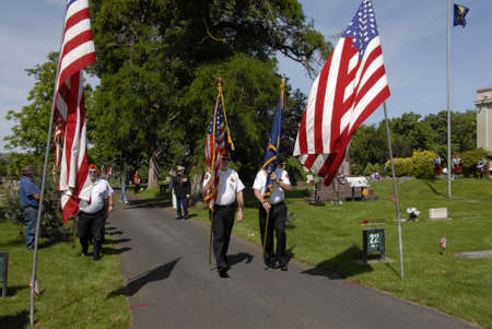 lewiston: Lewiston Idaho USA- 30 May 2016_  Memorial day  ceremony and people put flowers on their love ones on memorial day celebration at Normal Hill Cemetery in Lewiston, Idaho, Uinted States of Ameria today on monday memorial day naational holiday
