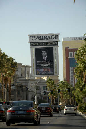 lewiston: Los VegasNevada USA- 04 June 2016_  Various casino paying tribute to Late  Muhammad Ali legden boxer have pic picture on marques after his death  in Los Vegas Nevada, USA Editorial