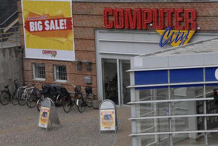 hi fi: Copenhagen  Denmark. 30 June 2016_Computer city hi fi store Editorial