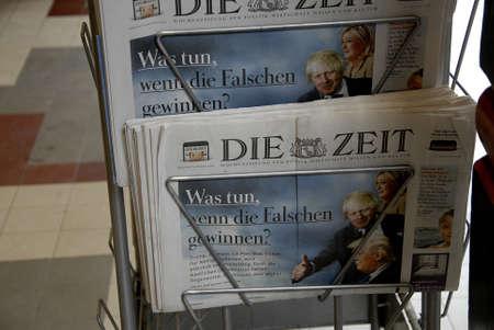 boris: Copenhagen  Denmark. 30 June 2016_  German Die Zeit with cover images of Boris Johnson , Marie la France, and Donalds Trump future leader of Uk, France and USA