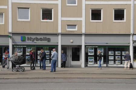 real esate: Copenhagen  Denmark. 05 July 2016_ Female at real esate in Copenhagen, Denmark