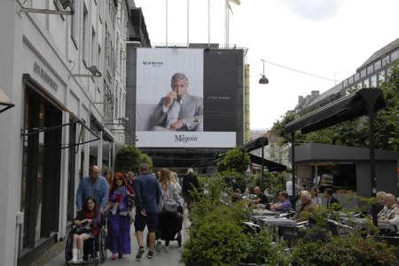 george: Copenhagen  Denmark. 05 July 2016_ George Clooney billboard Nespresso coffee