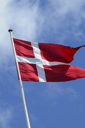 danmark: Copenhagen_Denmark_  13 July 2016-Danneborg_danish flag fly over danish ministry of defence