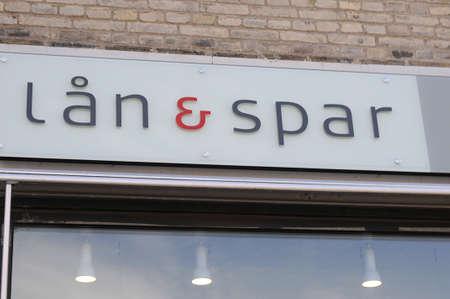 spar: Copenhagen_Denmark_  24 July 2016-Danish bank Spar & laan  spar & l?n)