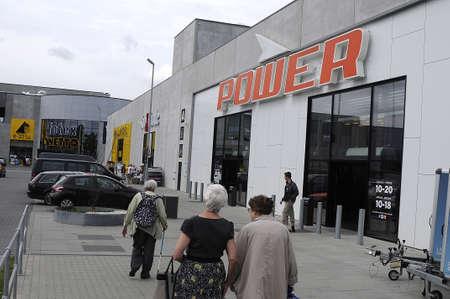 hi fi: Copenhagen_Denmark_  27 July 2016-  Power electrican hi fi store