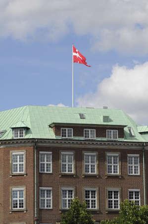 ministry: Copenhagen_Denmark_  28 July 2016- Danish flys over ministry of defence in Copenhagen, Denmark     Editorial
