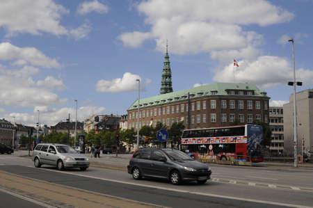 ministry: Copenhagen_Denmark_  28 July 2016- Danish flys over ministry of defence in Copenhagen, Denmark