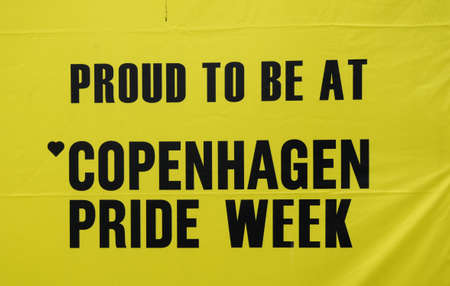 cityhall: 18 August  2016-2nd day of Copenhagen pride lesbian and gay celebrate 20 years pride and among there are minority high light their rights i their own communities stand and people gether at Copenhagen town hall square   in Copenhagen , Denmark Editorial