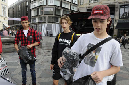 rebuild: 01. September  2016- Jack & Jones start promotion compaign on stroeget Amager torv giving way small gitfs o public for updating consumer for  their  the rnewly rebuild store in Field on Amager      in Copenhagen  Denmark  Editorial