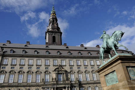 gave: 02. September  2016-Christiansborg palace  danish parliament infront statueof King Frederik the 7th gave danish constitution  1849