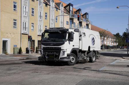 reparation: 06 September  2016- Raod reparation orner of Alleen and Kastruplundgade tday   KastrupCopenhagen  Denmark  Editorial