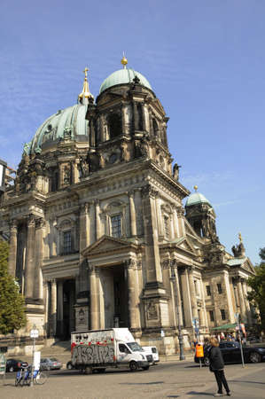 dom: 16 September  2016-Historical monument The Berliner Dom or other words The Berlin Cathedral      in Berlingermany  Editorial