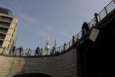 tv tower: 16 September  2016- TV tower Alexandraplatz eastern berlin    in Berlingermany  Editorial