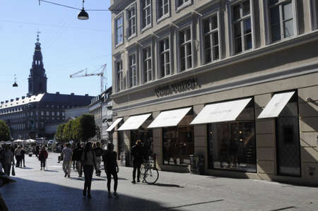 vuitton: 21 September  2016-Louis vuitton store on kobmagergade and stroget   in Copenhagen  Denmark  Photo. Francis Joseph DeanDeanpictures.