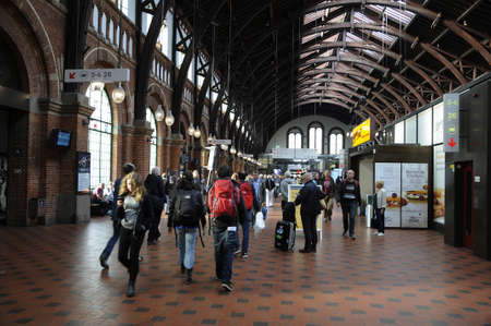 22 September  2016-Wrning to tourists and visitor travelling to Sweden all passengers travelling to Sweden have to change train at Copenhagen Airport to go through ID  Insepction warning sign at Copenhagen Central strainstation in Copenhagen  Denmark  Editorial