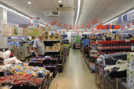 food chain: 26 September  2016- Consumers in German Lild food chain market    in KastrupCopenhagen Denmark