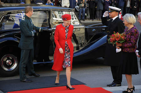 prince of denmark: 04 October  2016- H.M.The Queen Margrethe II of Denmark arrives and family members  Crown prince Frederik  and Crown princess Mary and prince marie and princes Jachim and queen sister princess Bendeikte arriaves at parliament opening  today as every year