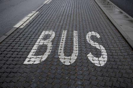 kastrup: Kastrup_ Copenhagen_Denmark _ 01st.December  2016_ Bus lane sign on Amagerlandvej ,Kastrup .