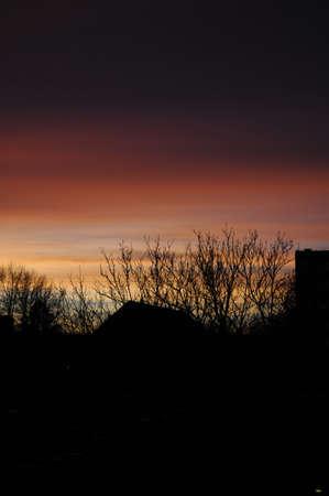 kastrup: Kastrup_ Copenhagen_Denmark _ 03..December  2016_  Sunset over Kastrup Amager Island  . Stock Photo