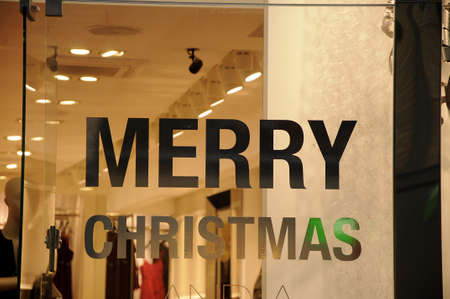 chritmas: Copenhagen  Denmark_  05.December  2016 - Christmas window decorations and christmas message Merry Chritmas.     Photo. Francis Joseph DeanDeanpictures.