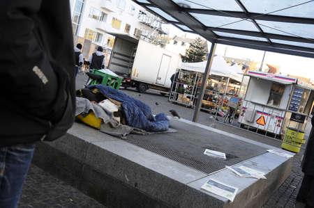 richness: Copenhagen  Denmark_  06th..December 2016 -  Homeless in Copenhagen Editorial