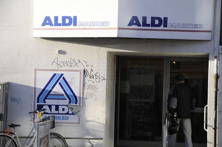 german food: Copenhagen  Denmark_  27..December 2016 - German food chain Aldi fod market .